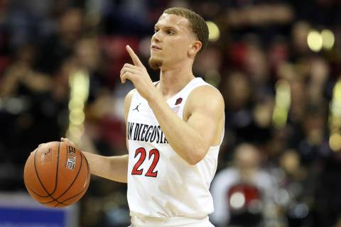 San Diego Malachi Flynn plays against Boise State during the first half of a Mountain West Conf ...
