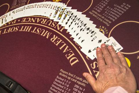 A table game at an MGM Resorts International property in Las Vegas. (Benjamin Hager Las Vegas R ...