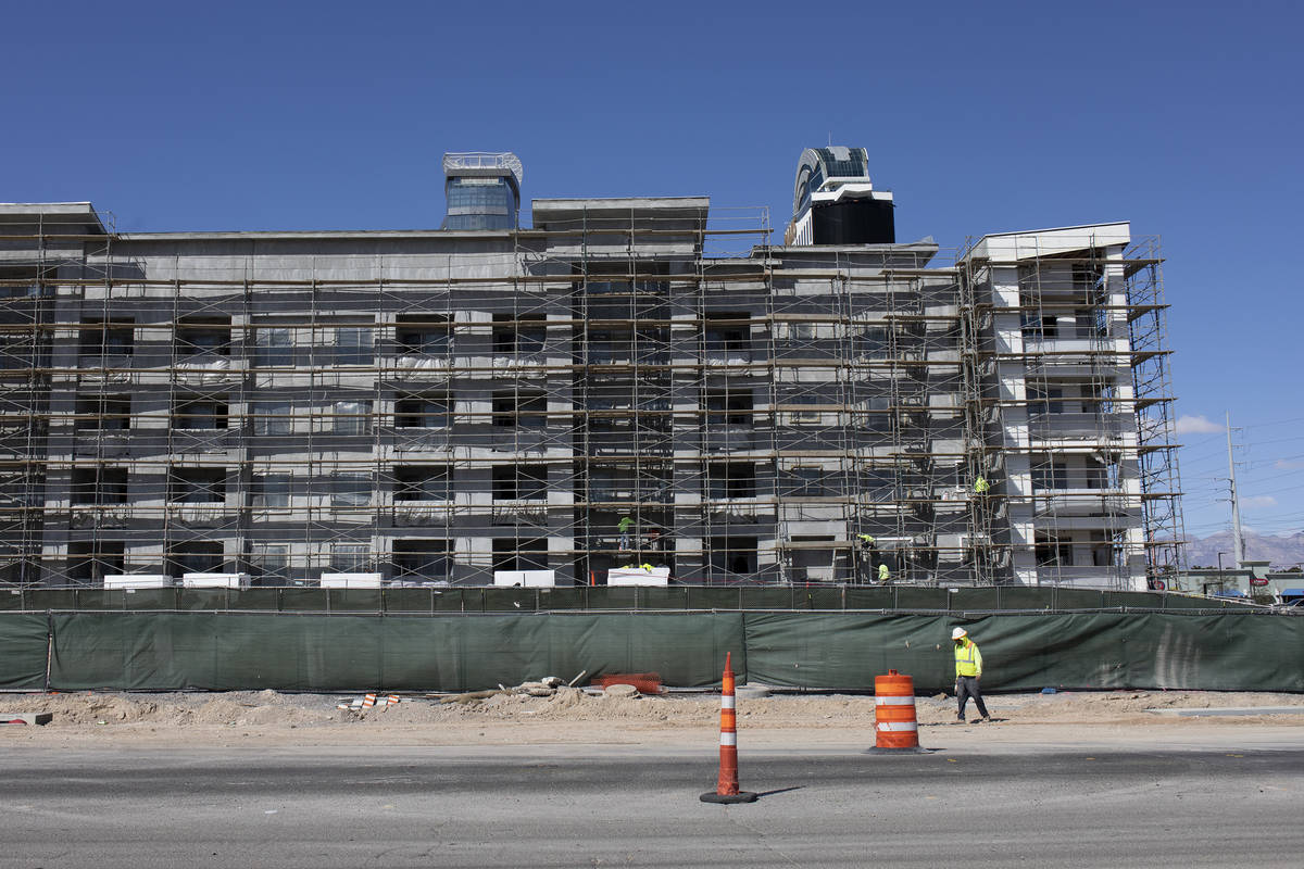 A construction site next to Palms on Friday, March 27, 2020, in Las Vegas. (Ellen Schmidt/Las V ...