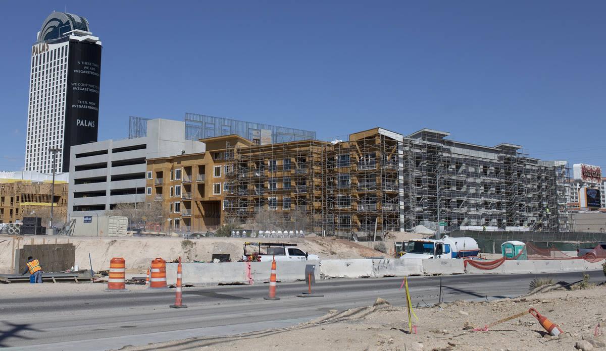 A construction site next to Palms on Friday, March 27, 2020, in Las Vegas. (Ellen Schmidt/Las V ...
