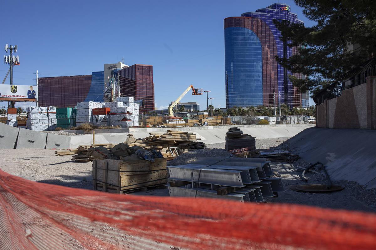 The Rio is behind a construction site on Friday, March 27, 2020, in Las Vegas. (Ellen Schmidt/L ...