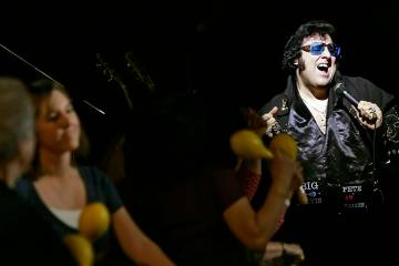"Pete ""Big Elvis"" Vallee performs in November 2008 inside Bill's Lounge at the former Bill ..."