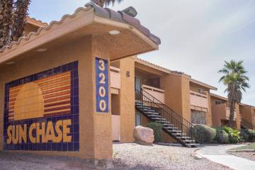 Sun Chase Apartments on Saturday, March 28, 2020, in Las Vegas. (Ellen Schmidt/Las Vegas Review ...