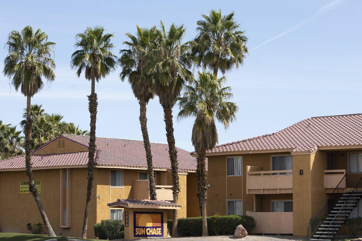 Sun Chase Apartments on Saturday, March 28, 2020, in Las Vegas. (Ellen Schmidt/Las Vegas Review ...