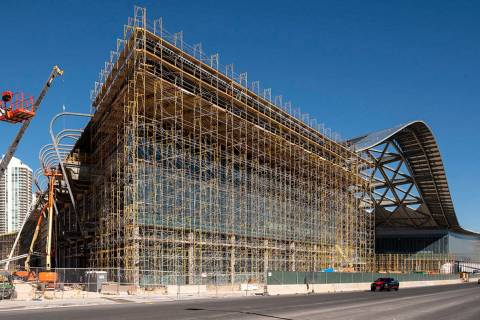The grand entry of the West Hall is seen in this looking northeast along Convention Center Dri ...