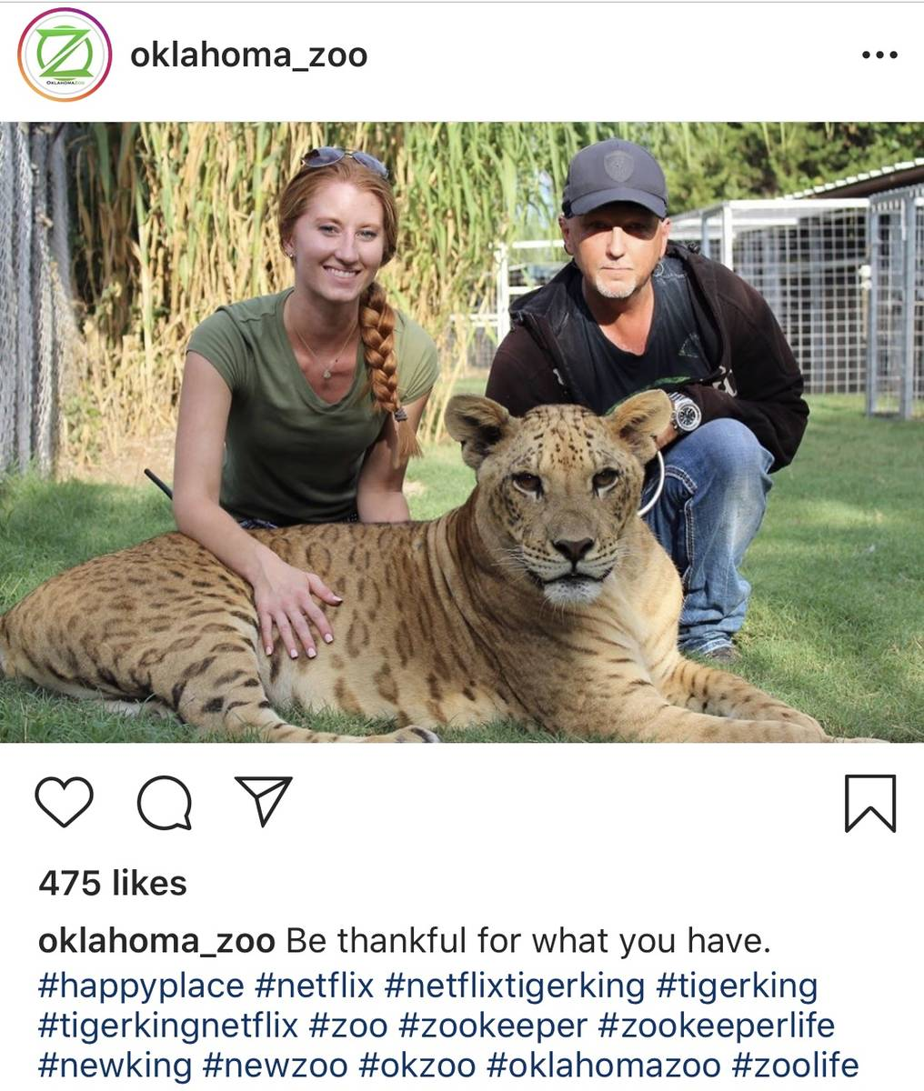 Jeff and Lauren Lowe are shown on the Oklahoma Zoo Instagram page. (@Oklahoma_Zoo)