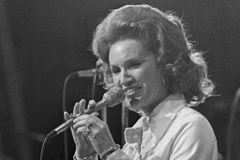 FILE - In a March 18, 1974 file photo, Country music star Jan Howard performs during the Grand ...