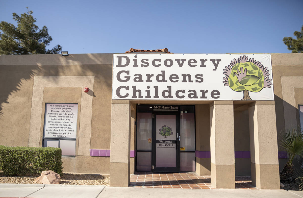 Discovery Gardens Childcare Bonanza Street location is seen in Las Vegas on Monday, March 30, 2 ...