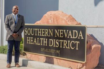 Dr. Fermin Leguen, Southern Nevada Health District acting health officer, poses for a photograp ...