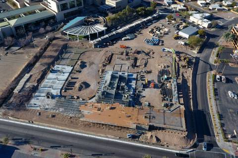 Construction continues on the new $25 million Henderson Community Ice Hockey Facility at the co ...