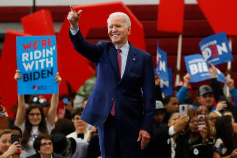 In this March 9, 2020, file photo Democratic presidential candidate former Vice President Joe B ...