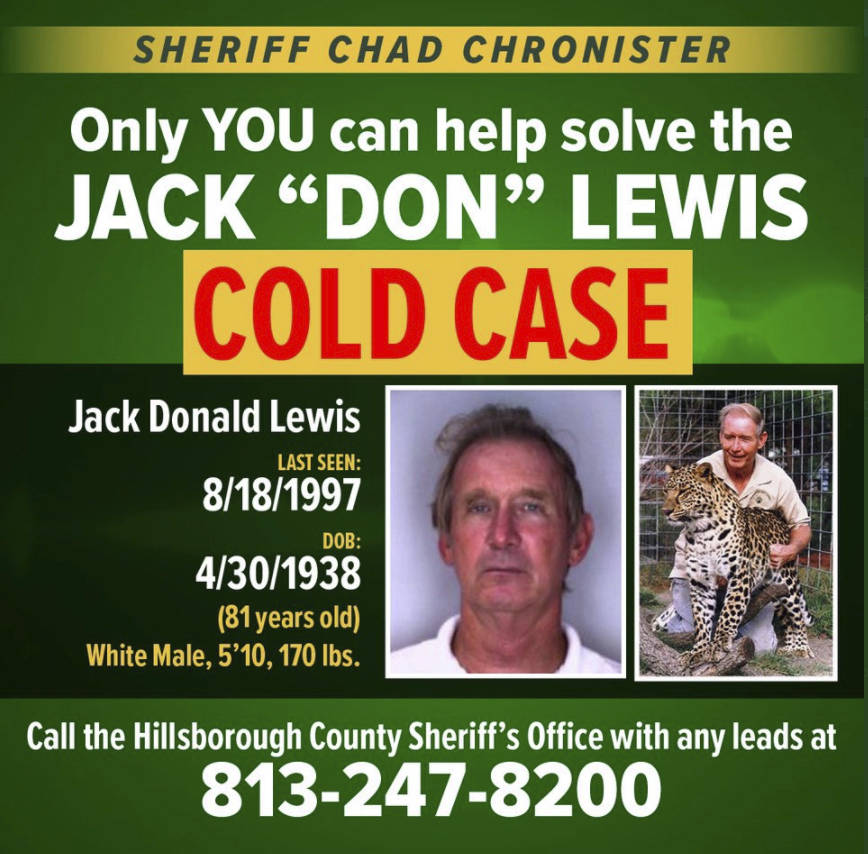 This notice posted on the Twitter account of Hillsborough County Sheriff Chad Chronister on Mon ...