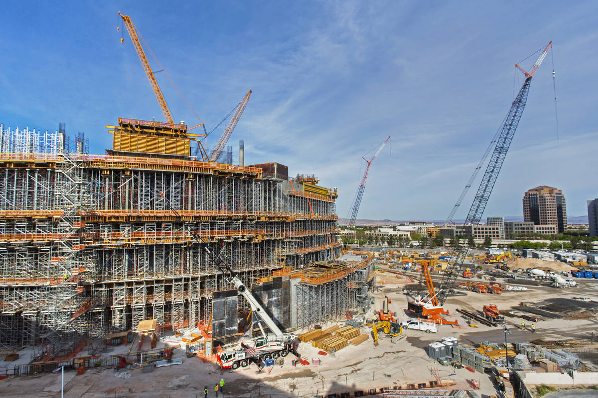 Developers of MSG Sphere at The Venetian are suspending construction of the Las Vegas entertain ...