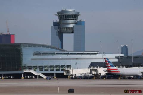 McCarran International Airport in Las Vegas, Thursday, March 19, 2020. (Erik Verduzco / Las Veg ...