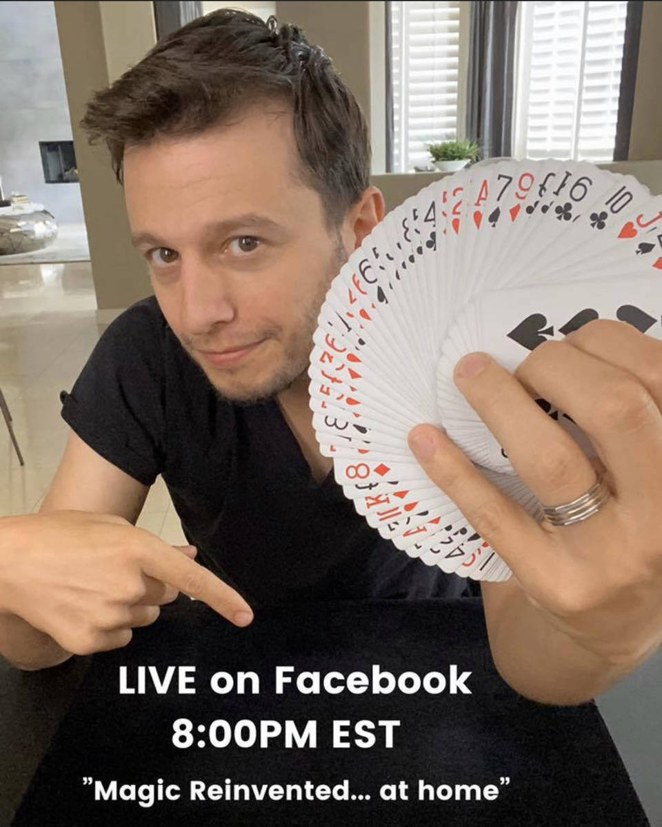 Mat Franco of The Linq Hotel is shown promoting his Facebook Live show. (Mat Franco Magic Facebook)