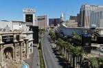 A rare look at an empty Las Vegas Strip