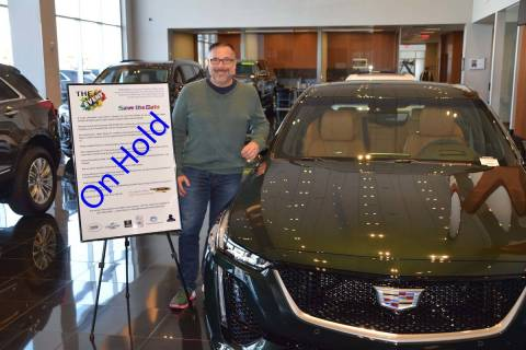 Findlay Cadillac General Manager John Saksa announces the postponement of The Event. (Findlay)