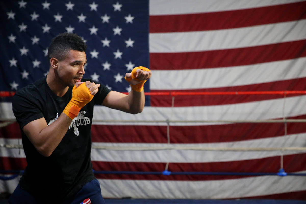 Rahim Gonzales during a workout at City Boxing Club in Las Vegas, Friday, Feb. 28, 2020. Gonzal ...