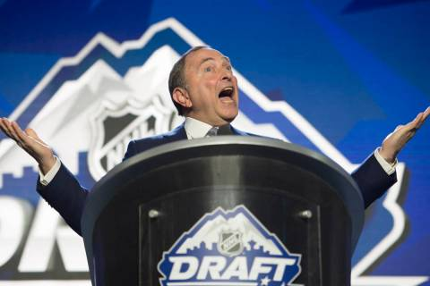 NHL Commissioner Gary Bettman opens the hockey league's draft in Vancouver, British Columbia, F ...