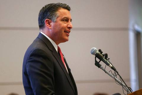 Former Nevada Gov. Brian Sandoval. (Chase Stevens/Las Vegas Review-Journal) @csstevensphoto
