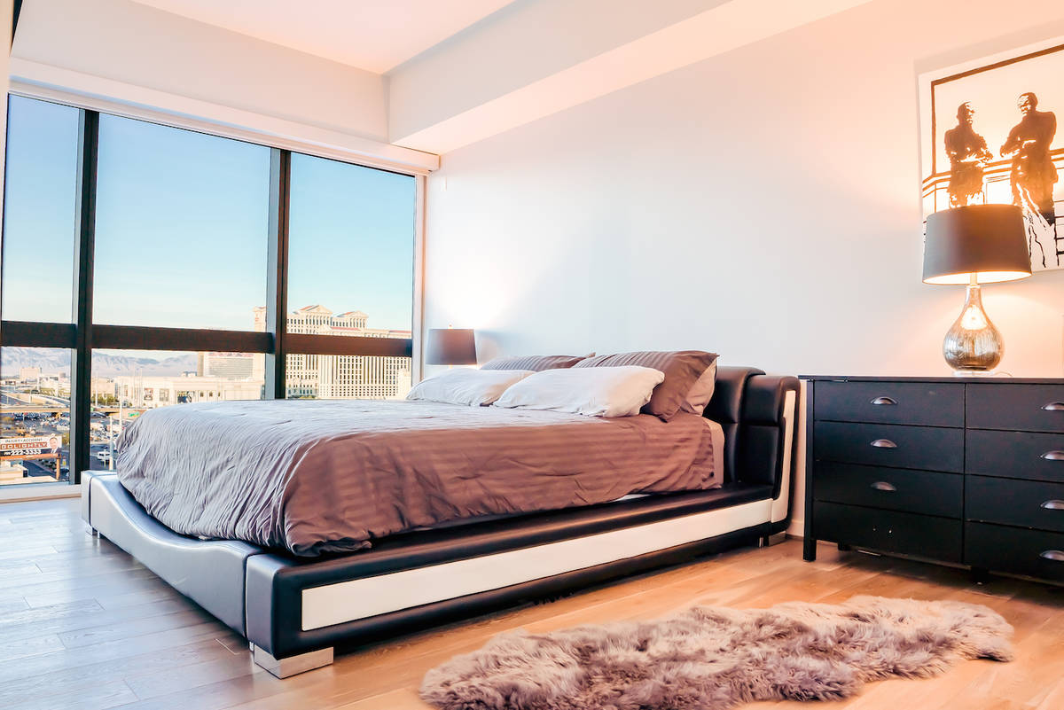 The Martin high-rise unit features two master suites behind the main living area. (Red Luxury R ...