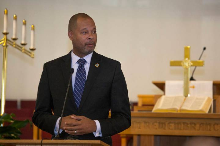 Nevada Attorney General Aaron Ford speaks during the implementing of Assembly Bill 431at Firs ...