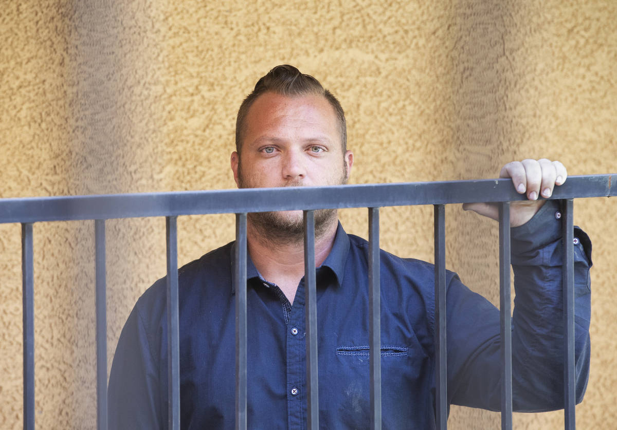 Charles Moorehead was served a seven-day eviction notice from Siegel Suites Tropicana during an ...