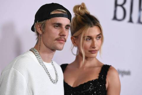 """Justin Bieber and Hailey Baldwin arrive at the Los Angeles premiere of """"Justin Bieber: Sea ..."""