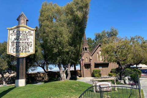 The Little Church of the West on the Las Vegas Strip is shown on Monday, March 30, 2020. (John ...