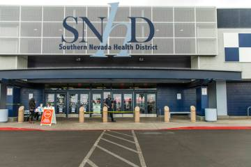 Exterior of the Southern Nevada Health District where those entering receive a quick screening ...
