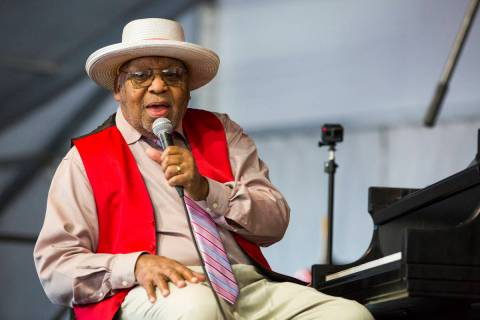 FILE - This April 28, 2019 file photo shows Ellis Marsalis during the New Orleans Jazz & He ...