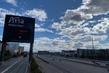 Traffic on Interstate 15 through Las Vegas was very light Saturday, March 21, 2020.With many ...