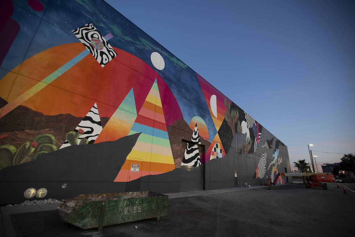 Eric Vozzola working on his mural at Area 15, Las Vegas, NV. ( Kate Russell, Courtesy of Meow ...
