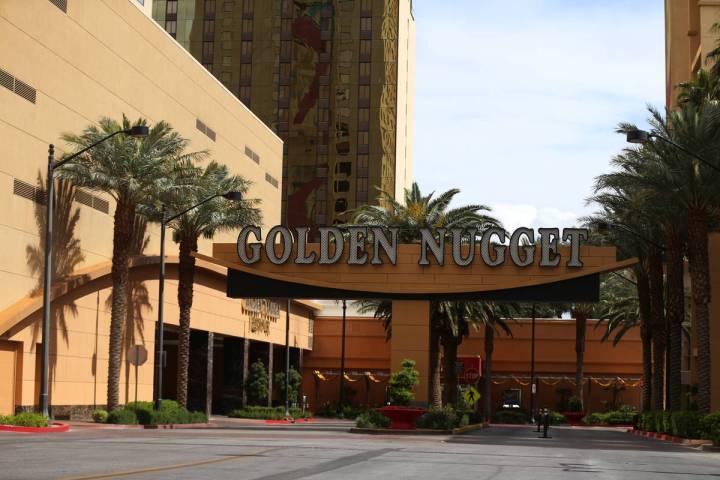 The Golden Nugget casino-hotel in Las Vegas, Thursday, March 19, 2020. (Erik Verduzco/Las Vegas ...