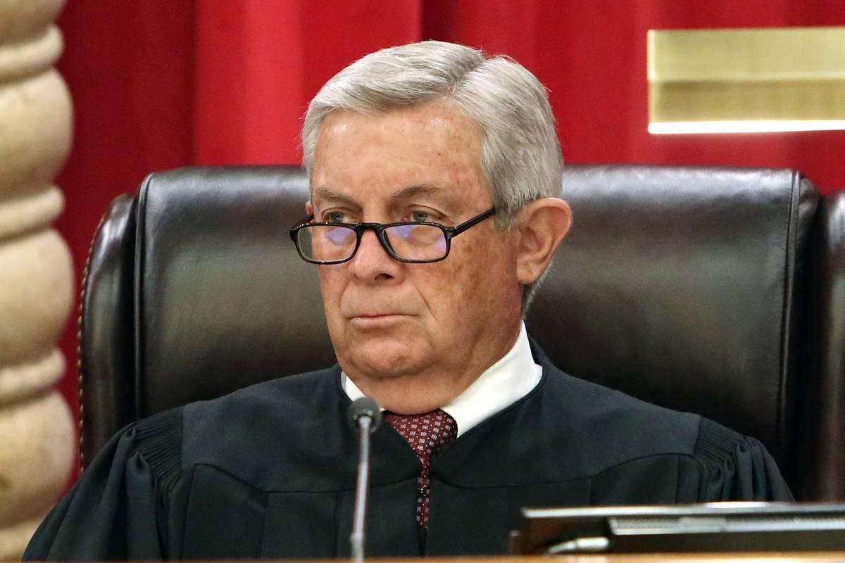 Nevada Supreme Court Justice James Hardesty, seen in 2017. (Bizuayehu Tesfaye/Las Vegas Review- ...