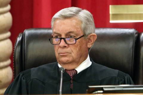 Nevada Supreme Court Justice James Hardesty, seen in 2017. (Bizuayehu Tesfaye/Las Vegas Review- ...