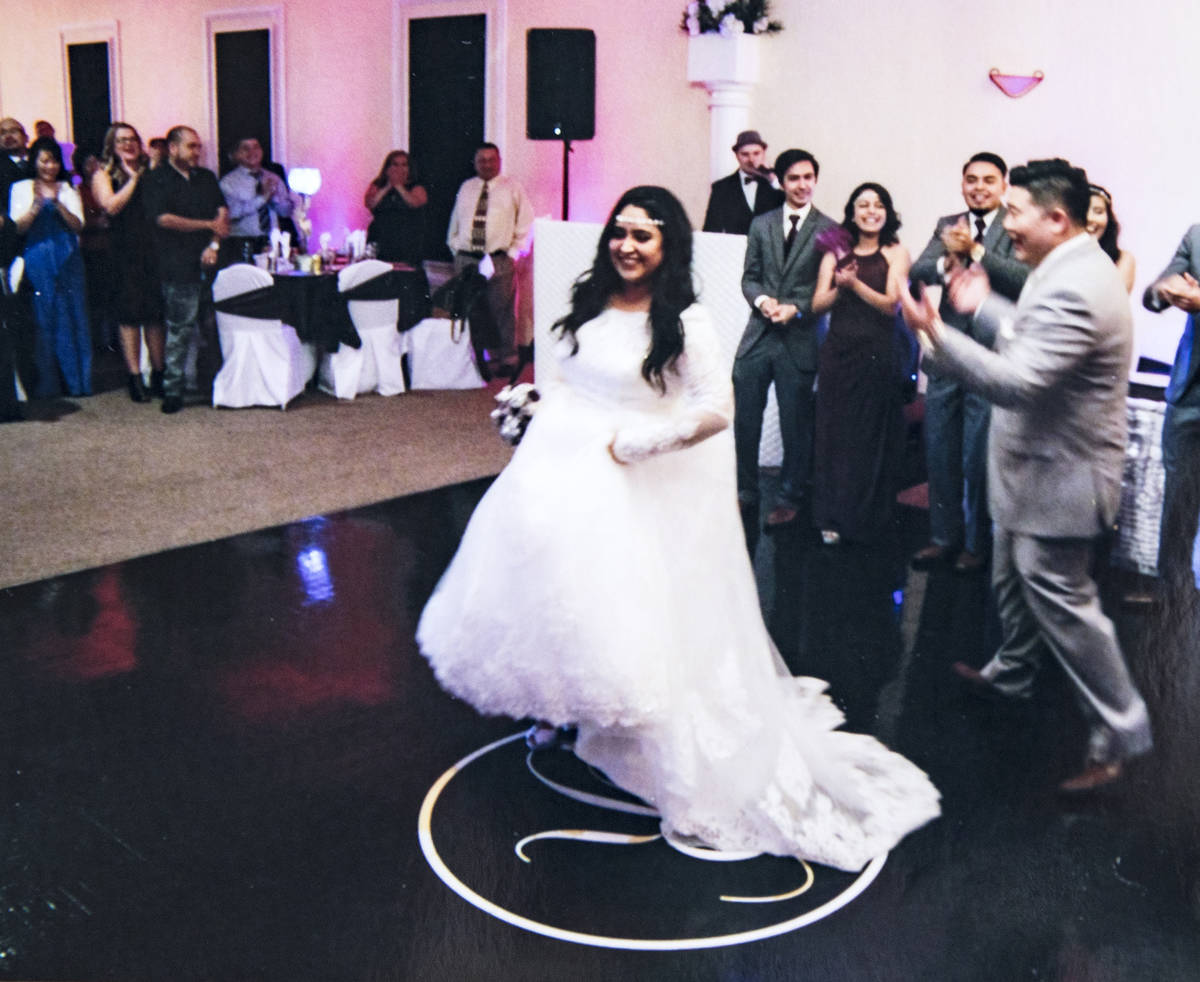 A photo of the wedding of Corey Huh and his wife Adriana Huh in 2016. Adriana is in serious con ...