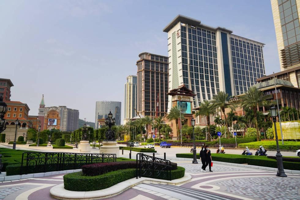 Pemandangan Jalur Cotai pada 10 April 2020. (Inside Asian Gaming)