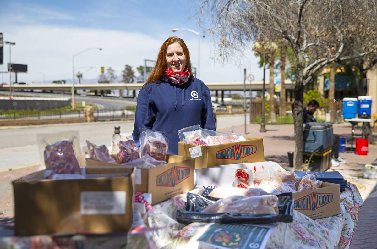 Jessica Gordon of Chef's Warehouse, poses for a portrait by items being offered to the public o ...
