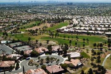 A view of Sun City Summerlin is seen Friday, March 27,2015. The mastered planned community lo ...