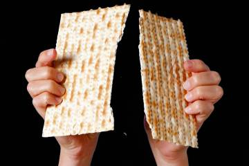 Matzo is a form of unleavened bread that is a staple during the Passover holiday. (Review-Journ ...