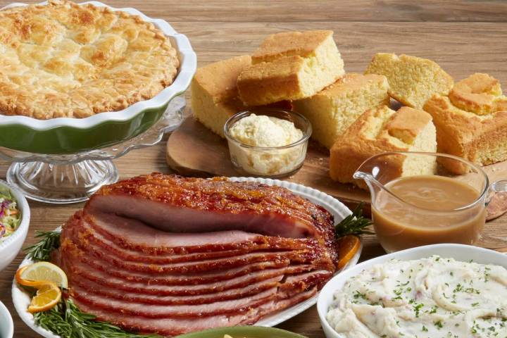 The Ham Dinner Family Meal at Marie Callender's serves four. (Marie Callender's)