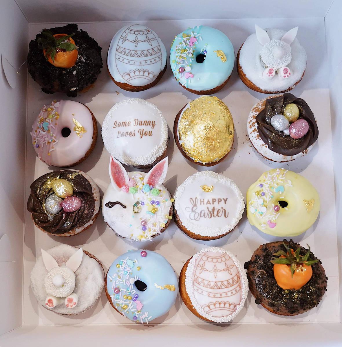 Easter-themed doughnuts at Saint Honore. (Saint Honore Doughnuts & Beignets)