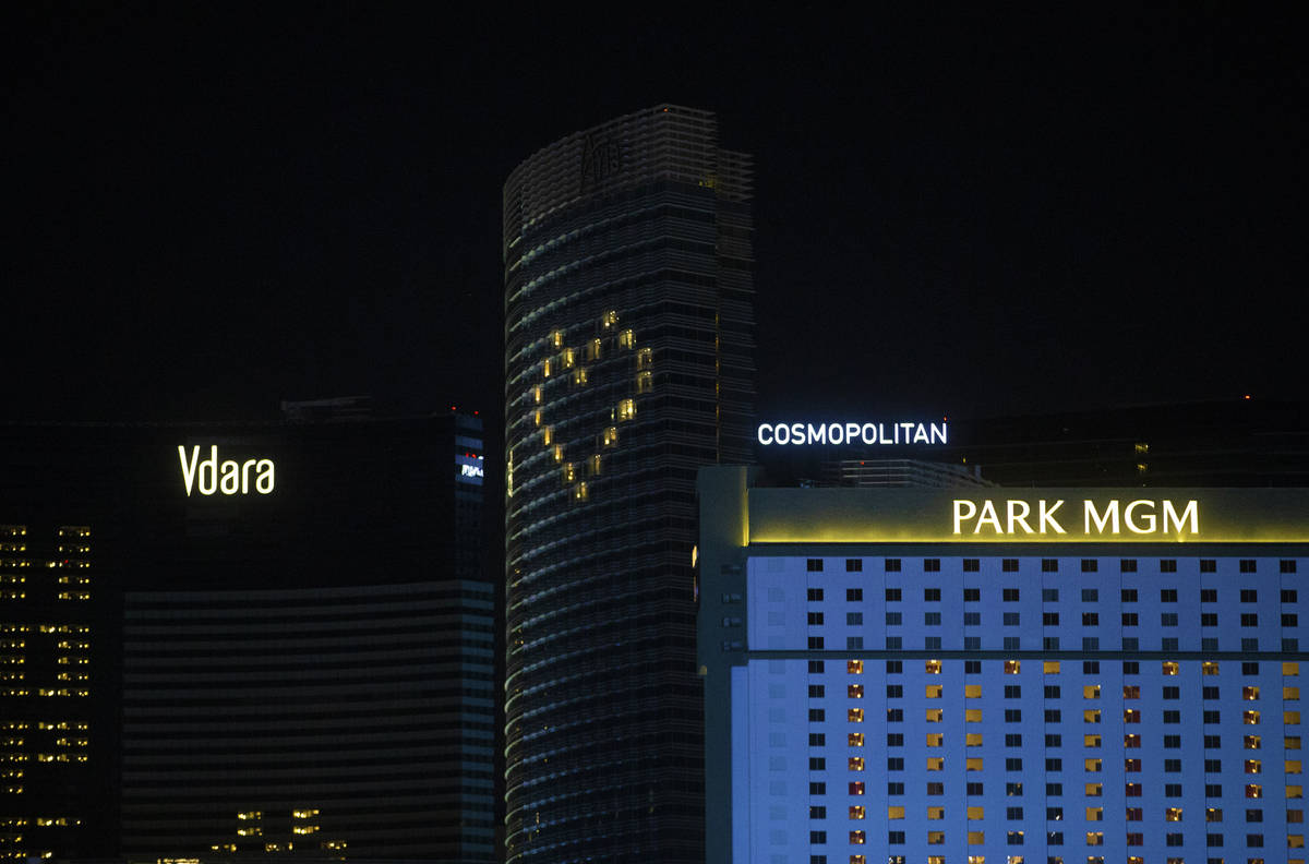 Las Vegas Strip Coronavirus Message Of Love Is Expanding Las Vegas Review Journal