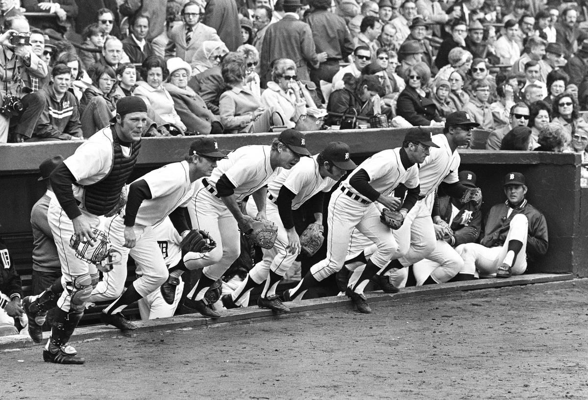Al Kaline, second from left, batted .297 with 3,007 career hits and 399 home runs for the Detro ...