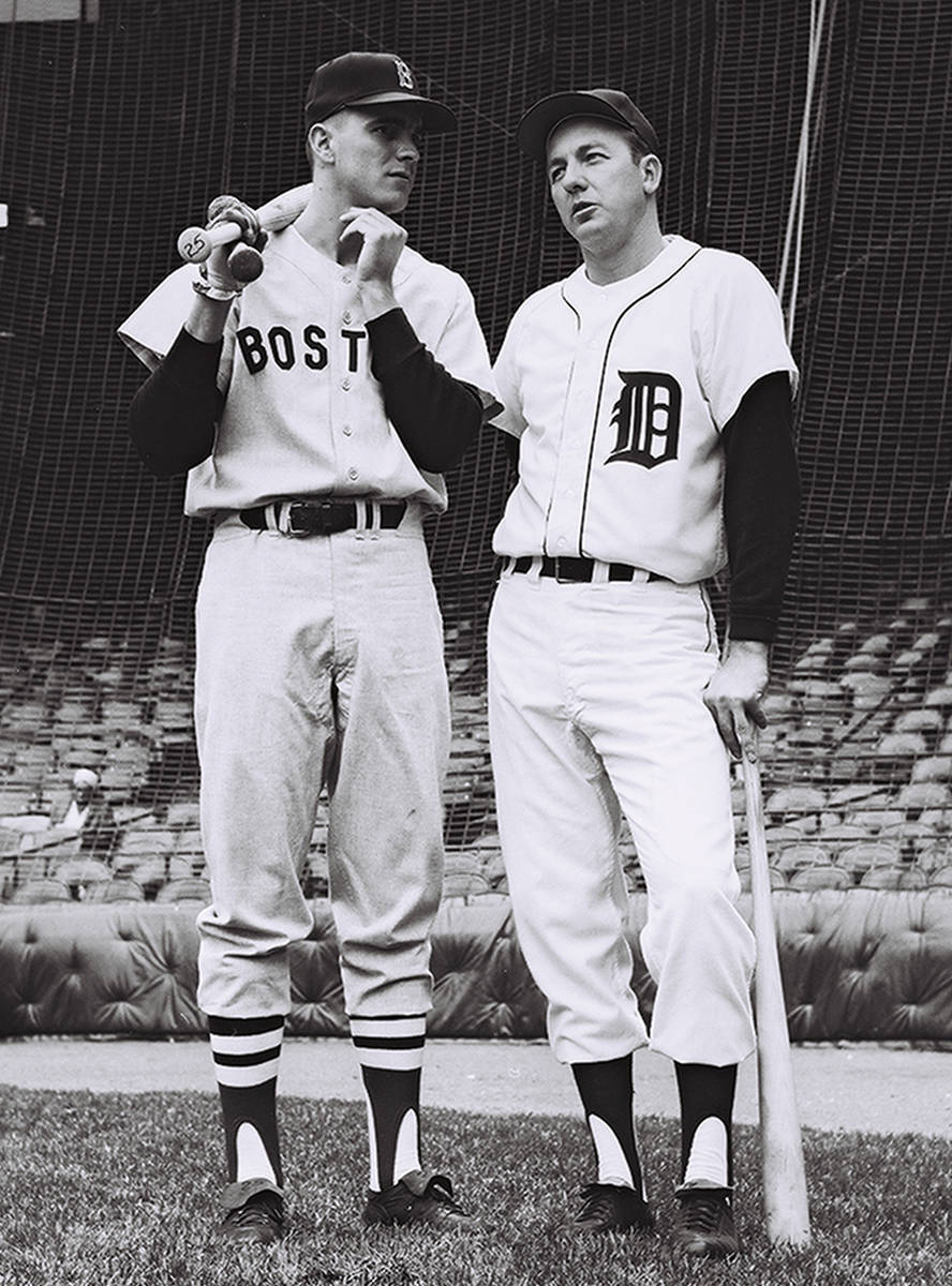 Al Kaline, shown with Tony Conigliaro of the Boston Red Sox, batted .297 with 3,007 career hit ...