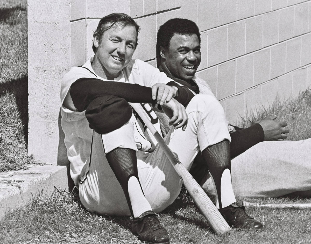 Al Kaline, left, shown during spring training with teammate Willie Horton, batted .297 with 3,0 ...
