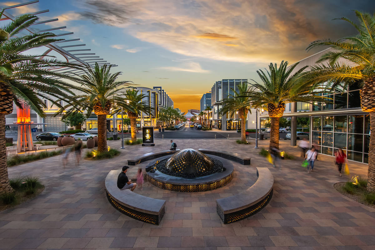 Downtown Summerlin includes an outdoor pedestrian retail center home to 125-plus national and r ...