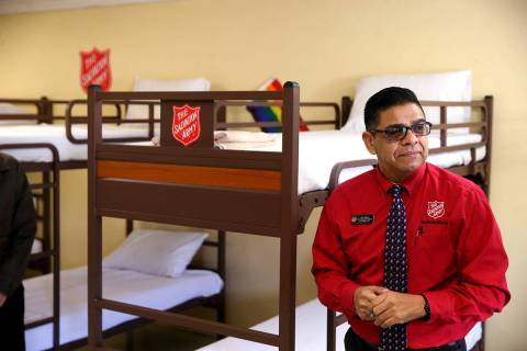 Juan Salinas, director of social services at the Salvation Army of Southern Nevada, during the ...