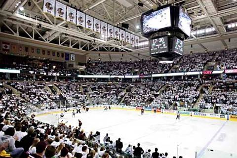 Ralph Engelstad Arena on the campus of the University of North Dakota in Grand Forks. (Courtesy ...